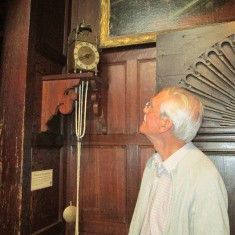 The Cromwellian one-armed pendulum clock still ticks away accurately after all these years