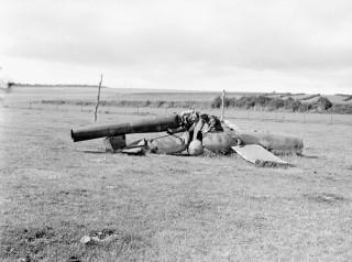 A crash-landed V1 flying bomb