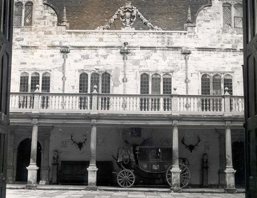 Stone Court with the Sackville carriage which was housed there for many years