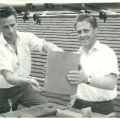 Alan and Arthur Grubb,  builders at Knole 1963-87