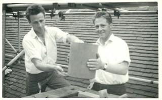 Alan and Arthur Grubb,  builders at Knole 1963-87