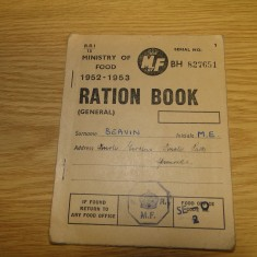 Margaret Beavin's ration book