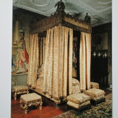 The magnificent King's Bed at Knole conserved in 1987