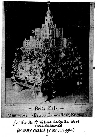 The wedding cake of Lionel and Victoria Sackville-West