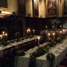 Recalling 1904: Royal Oak members dine in style in 2013 in the Great Hall at Knole
