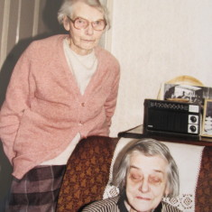 The Hodder sisters: Lucy, aged 91 (standing) and Agnes, aged 87 (sitting)
