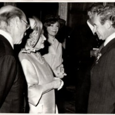 The Queen Mother presented the British Empire Medal to Cyril at Knole in 1980.