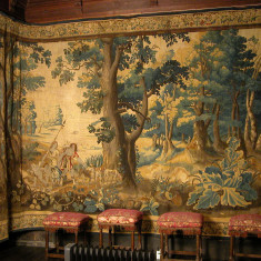 Reydams tapestry in Knole's Spangle Bedroom, one of four returned to display in 2019 after conservation