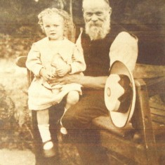Michael Doggett's great-grandfather, James Cox Doggett, aged 58, and Michael's father, James Sydney Doggett, aged 4, in 1912.