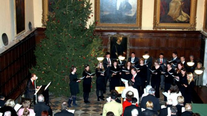 Knole Singers in the Great Hall at Christmas