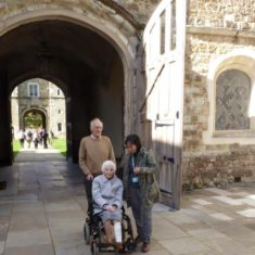 Kay, aged 102 in 2017, visiting Knole in the early autumn