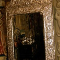 Rare 18th century silver mirror, King's Room, Knole