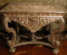 King's Room silver table at Knole