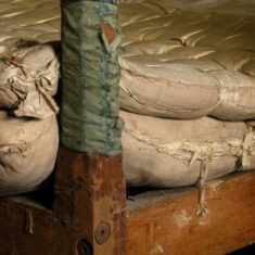 The James II Bed mattresses before conservation