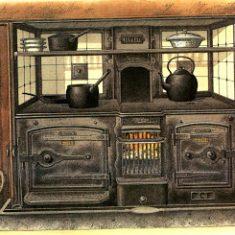 An illustration of a cast iron Victorian range
