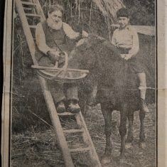 William Beavin with grandson