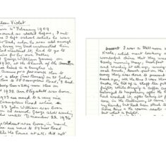 Kathleen Violet Stillman's hand-written memories of working as Still Room maid at Knole  | courtesy of Audrey Longley